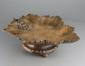 Vintage Black Forest carved beech musical fruit bowl