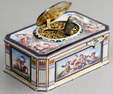 Vintage silver and full pictorial enamel singing bird box, by Karl Griesbaum