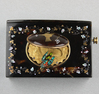 Antique Tortoiseshell and mother-of-pearl inlaid singing bird box