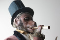 Antique standing monkey smoker automaton, by Gustave Vichy