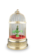 Small single bird-in-cage, by Karl Griesbaum