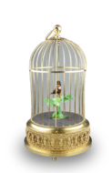 Small single singing bird-in-cage, by Karl Griesbaum