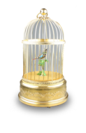Small single singing bird-in-cage, by Bontems