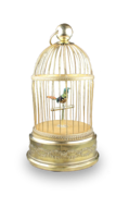 Small singing bird-in-cage, by Bontems