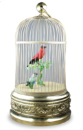Antique Double singing birds-in-cage, most probably Bontems