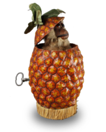 Monkey-in-pineapple musical automaton, by Roullet & Decamps