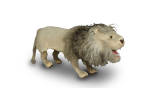 Rare antique leaping and growling lion automaton, by Roullet & Decamps