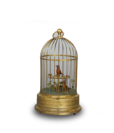 Vintage small double singing birds-in-cage, by Karl Griesbaum