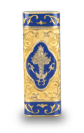 Tooled gilt metal and enamel cigarette lighter, by Cartier