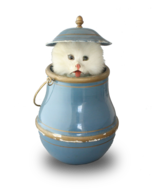 Antique Cat in-Lidded-Pot automaton, by Roullet & Decamps