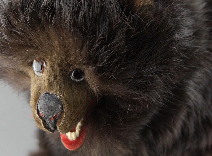 Antique Walking bear automaton by Roullet Descamps