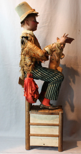 Antique Peasant and the Pig musical automaton, by Vichy-Triboulet